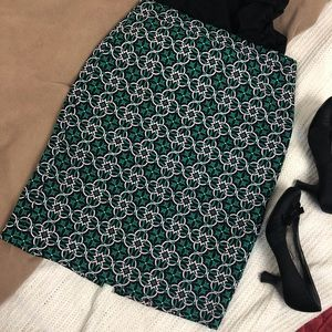 Green and Beige Celtic Knot Skirt